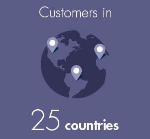 Des clients dans 25 pays