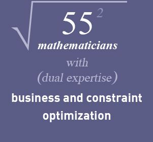 60 mathématiciens avec une double expertise métier et optimisation sous contraintes